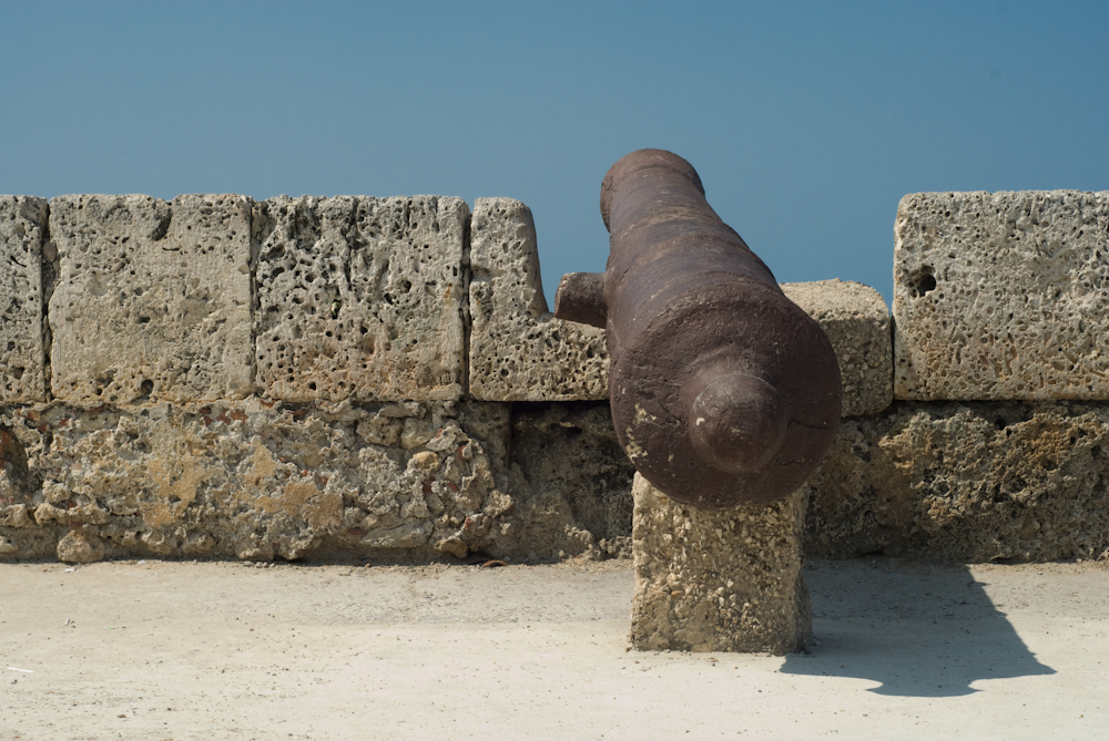 Cannon on the ramparts of Cartagena