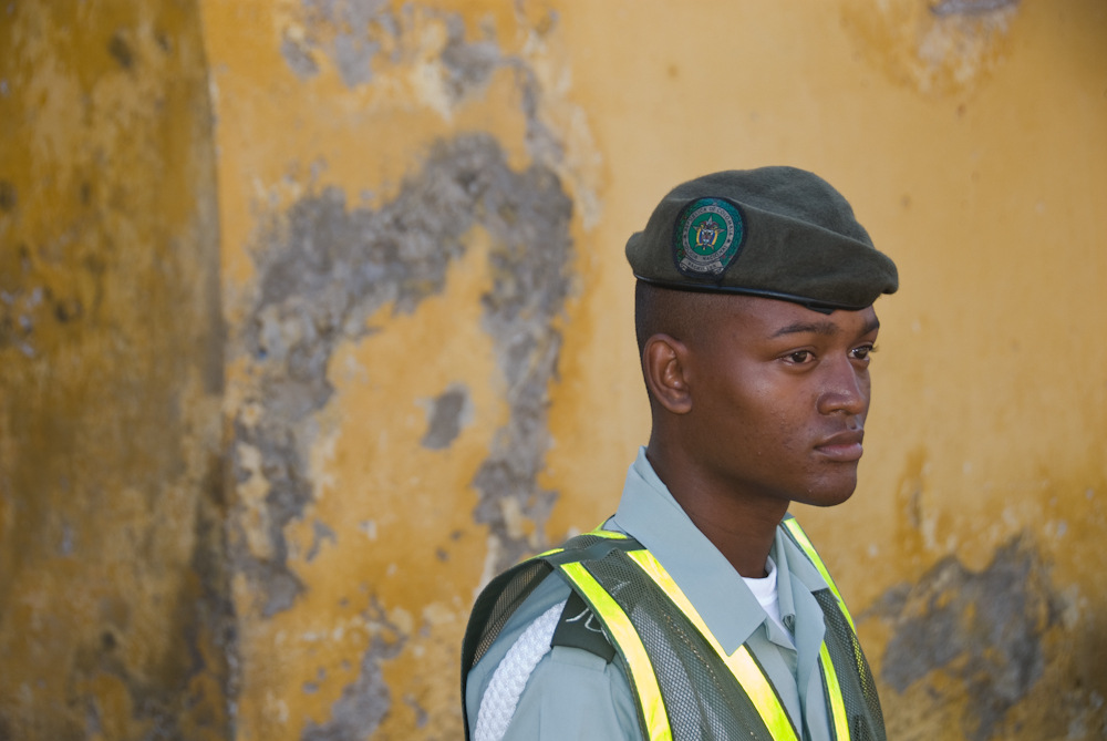 Soldier in the old city