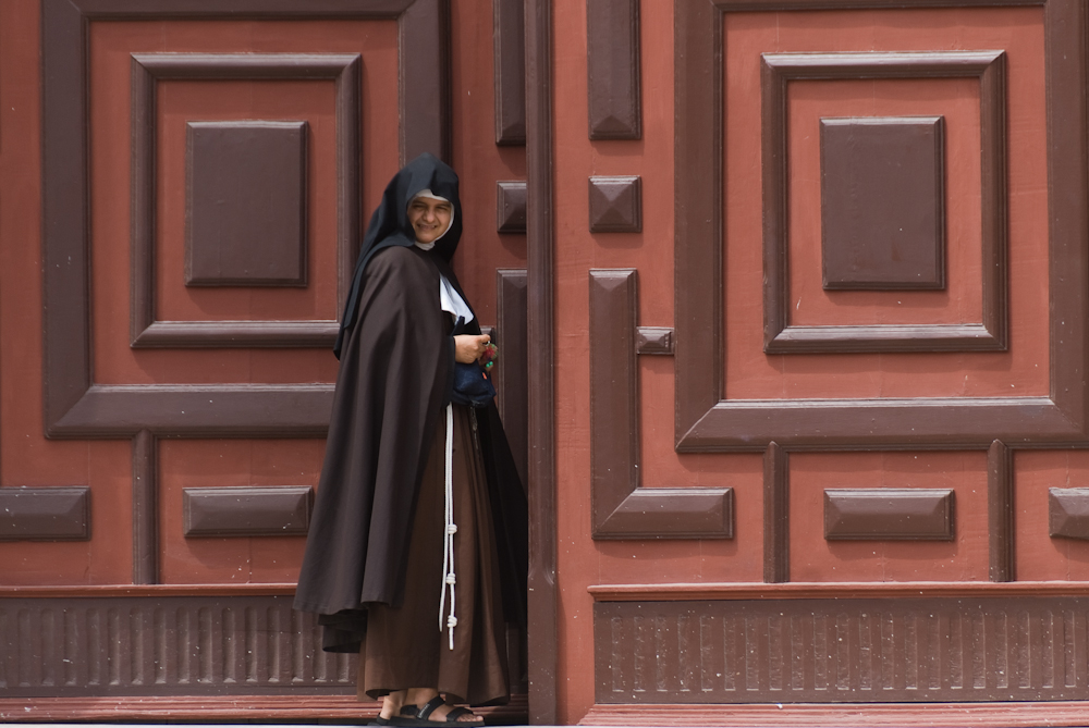 Nun at the Cathedral of San Pedro Claver