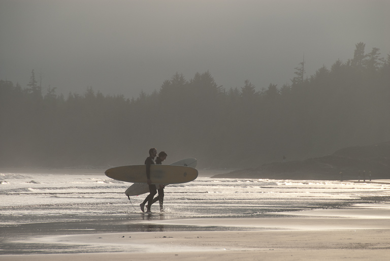 Surfers near Tofino