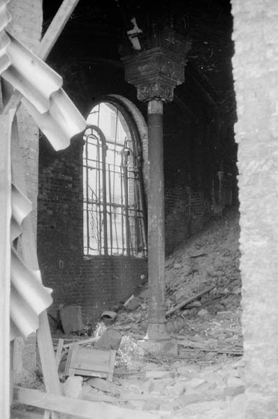 Ruined synagogue, dating back to Krystallnacht, I believe.