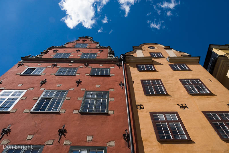 Buildings of Stortorget, the main square