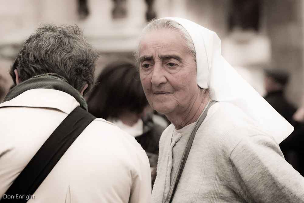 Woman in Rome.