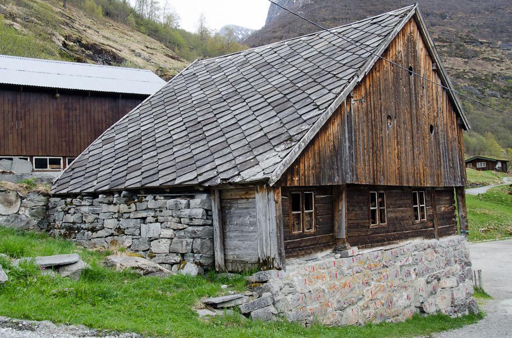 Slate roof on shed