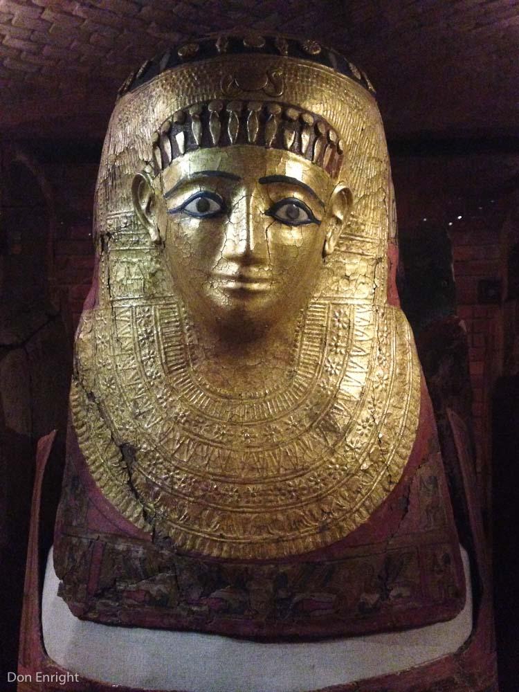 Gold mummy exterior