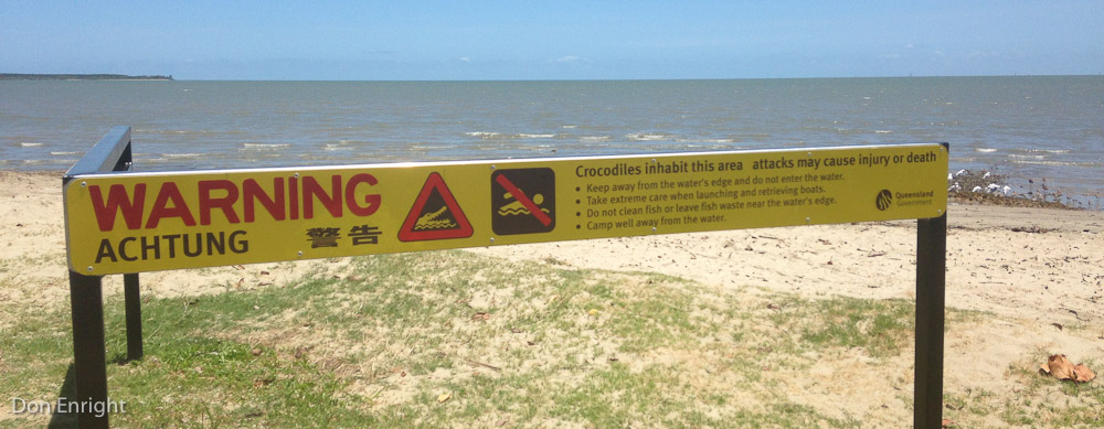 saltwater croc warning