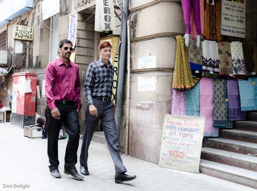 two men on street, mumbai