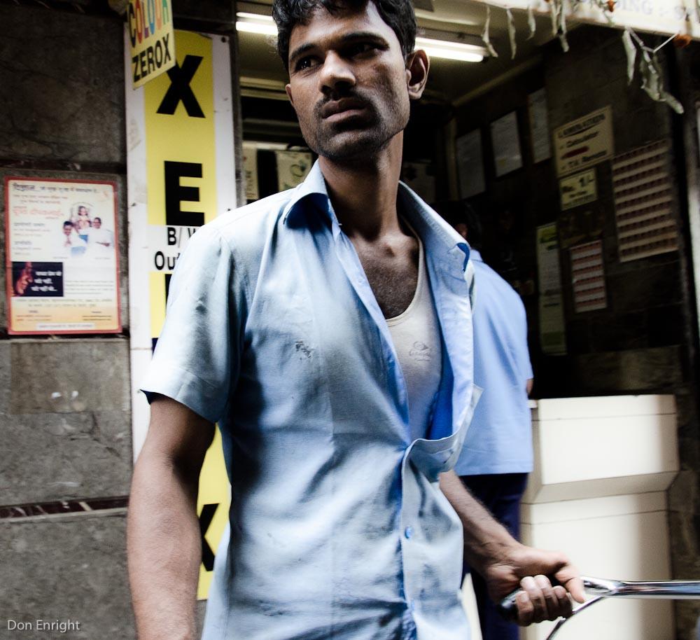 young man closeup, mumbai