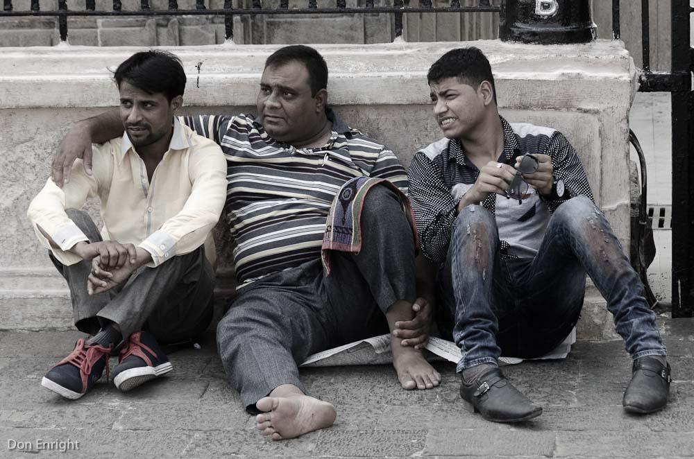 men relaxing, mumbai
