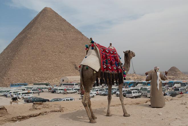 crowd at pyramids