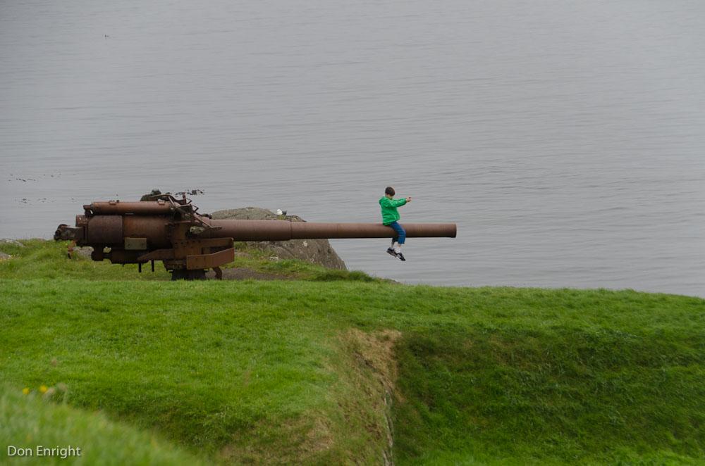 boy on cannon