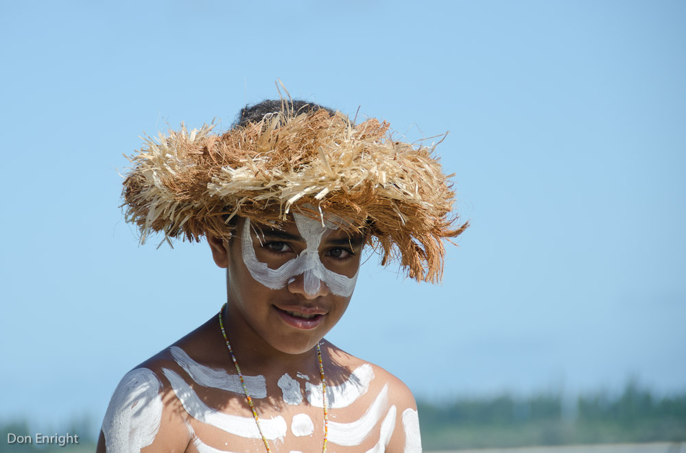boy in traditional dress, new caledonia