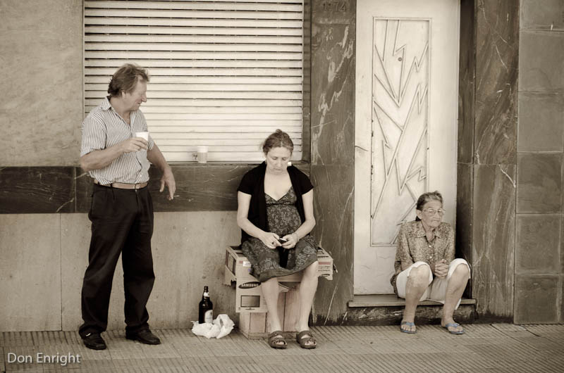 The streets of Montevideo