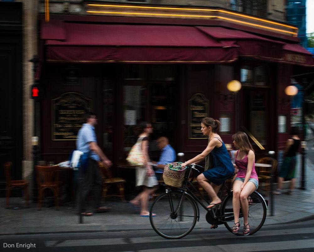 Paris, girls on bicycles.
