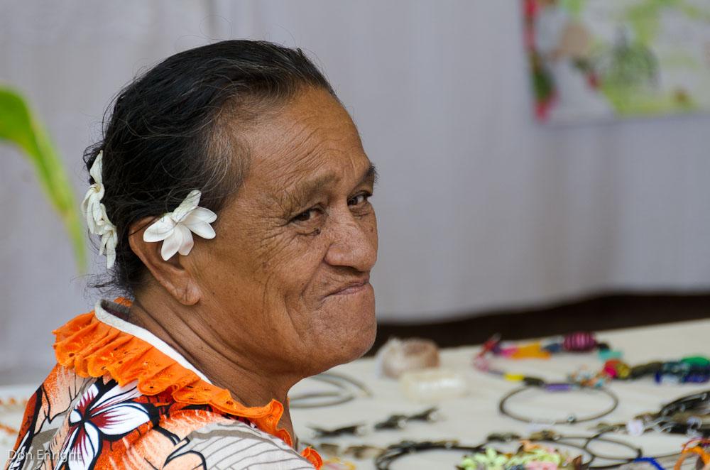 older woman of Tahiti