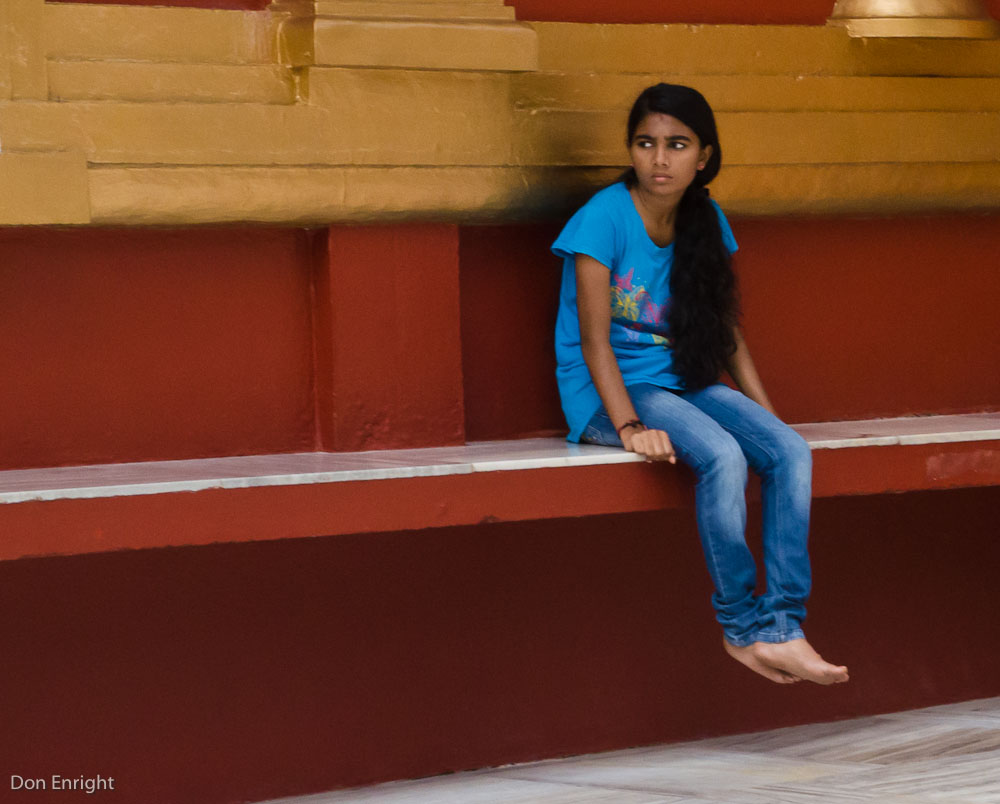 girl at temple
