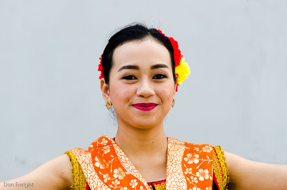 woman in traditional dress, Kota Kinabalu