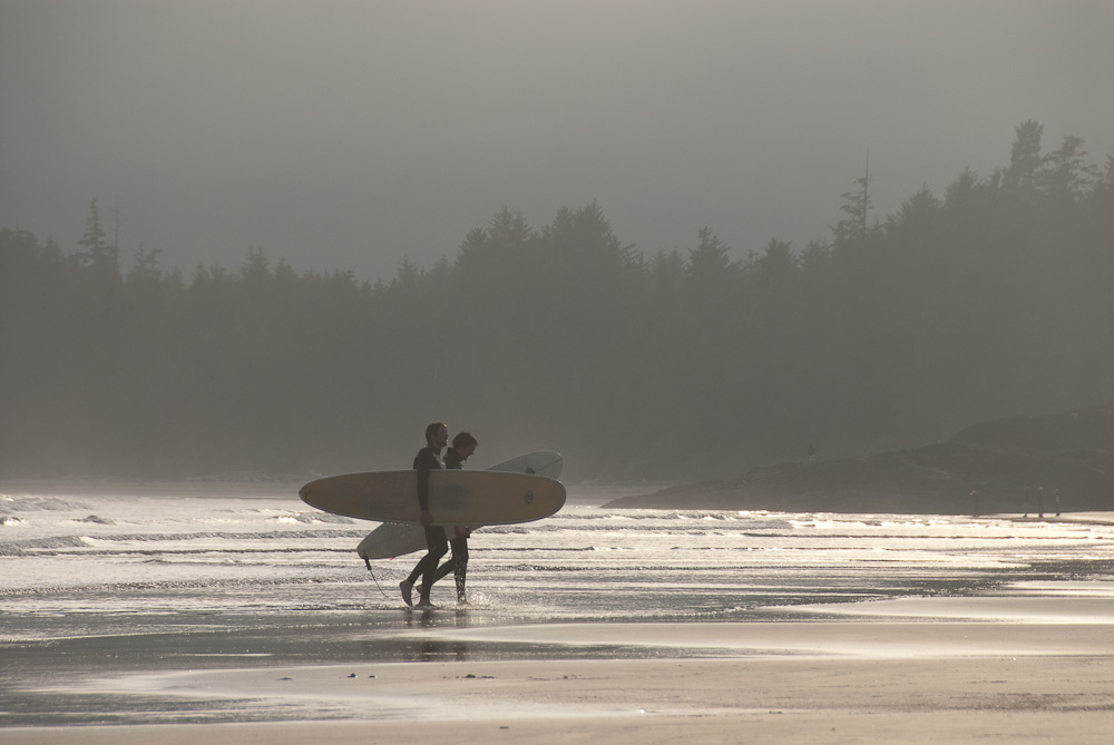 surfers at long beach