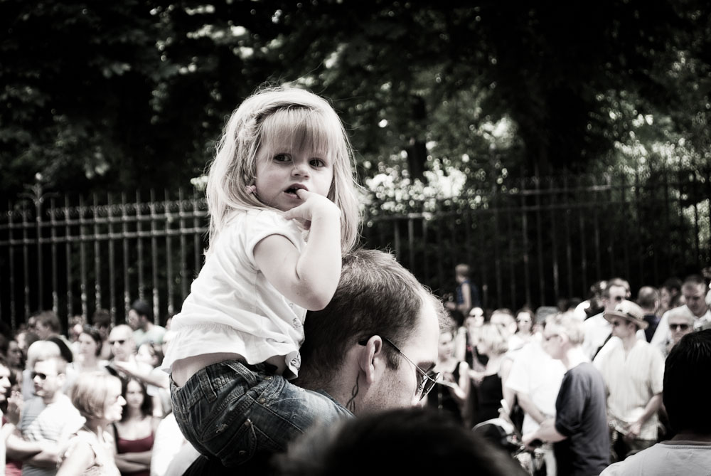 girl in crowd