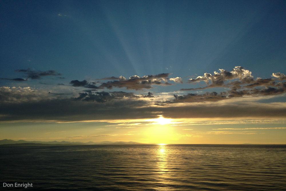 Sunset, Strait of Georgia