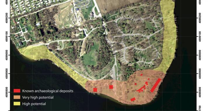 archaeology map Serpent mounds